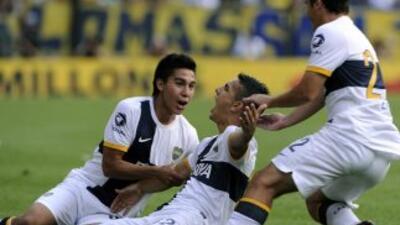 Boca volvió a festejar en la Libertadores tras vencer 2-1 al Barcelona d...