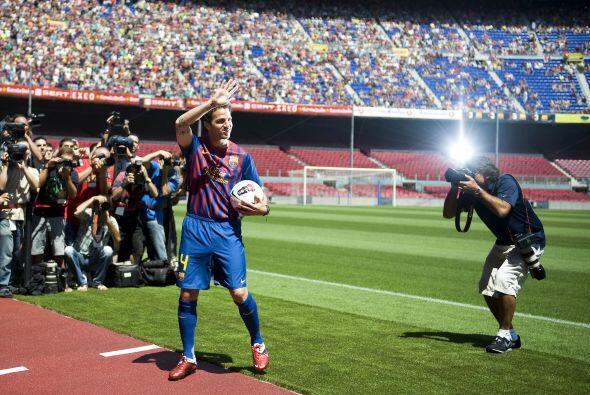 Todos querían la imagen del nuevo futbolista 'blaugrana'.