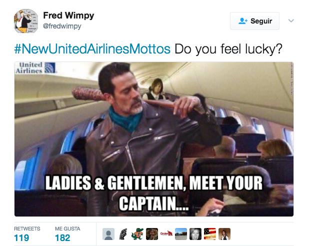 Por supuesto, Internet está atacando con memes a United Airlines Captura...