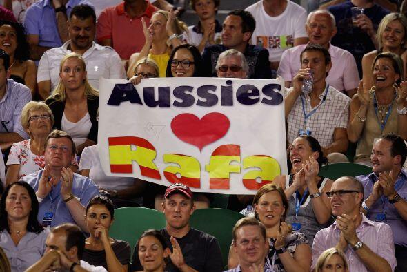 El español tuvo muchas muestras de cariño entre el público australiano.