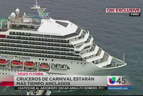 Después de semanas de controversia, los cruceros Carnival pasarán más ti...