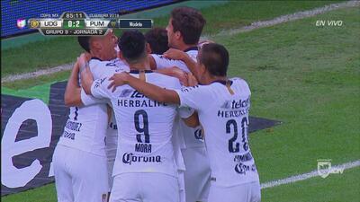 Malcorra de penal, anota 2-0 de Pumas