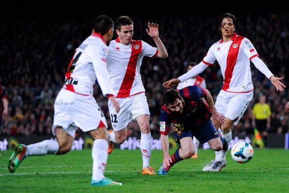 Y esta era la única forma de parar a Messi.