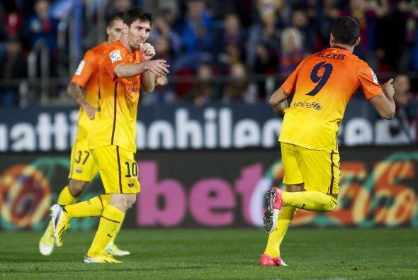 'La Pulga' no perdonó y firmó el 4-2 final, que a su vez es el gol 76 de...