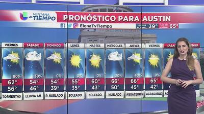 Tormentas y temperaturas frescas para este viernes en Austin
