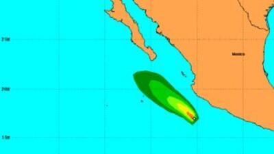 Posible trayectoria del huracán Polo.