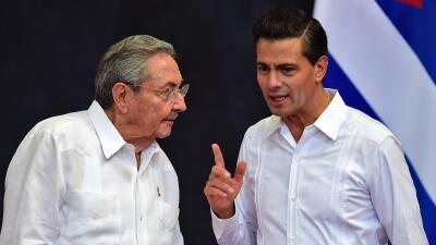 Raúl Castro en su visita a México
