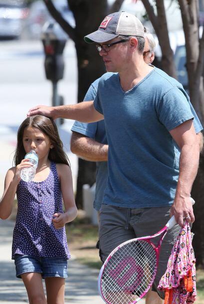 El actor es un padre dedicado a sus hijas, y se encarga de que no les fa...