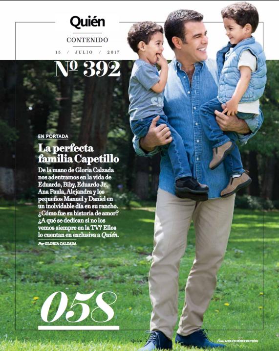Eduardo Capetillo, con los gemelos Daniel y Manuel