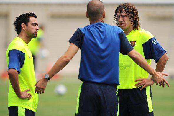 Aterrizó Guardiola como entrenador azulgrana y Xavi no paró de crecer. J...