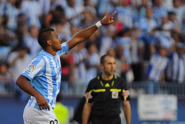 Rondón marcó el único tanto del duelo, para que Málaga ganara los tres p...