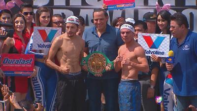 Jorge 'Travieso' Arce y Jhonny González dieron el peso para su pelea