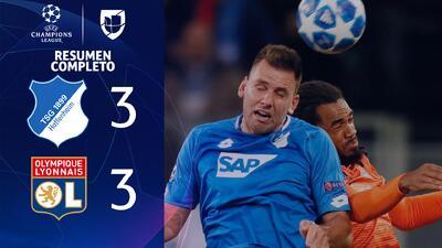 Hoffenheim 3-3 Lyon - GOLES Y RESUMEN - Grupo F UEFA Champions League