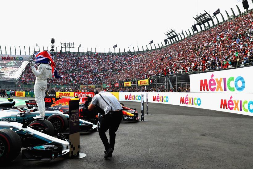 Sergio Pérez acabó séptimo lugar en el Gran Premio de México de la Fórmu...