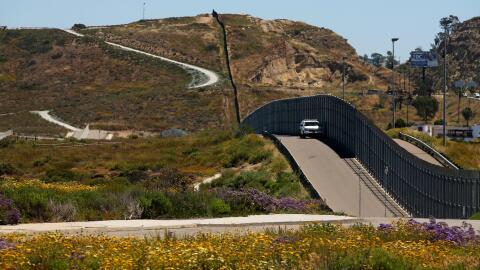 Muro fronterizo entre las ciudades de San Diego y Tijuana.