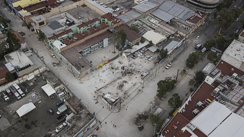 Así quedó el lugar donde estaba la fábrica de textiles en el centro de l...
