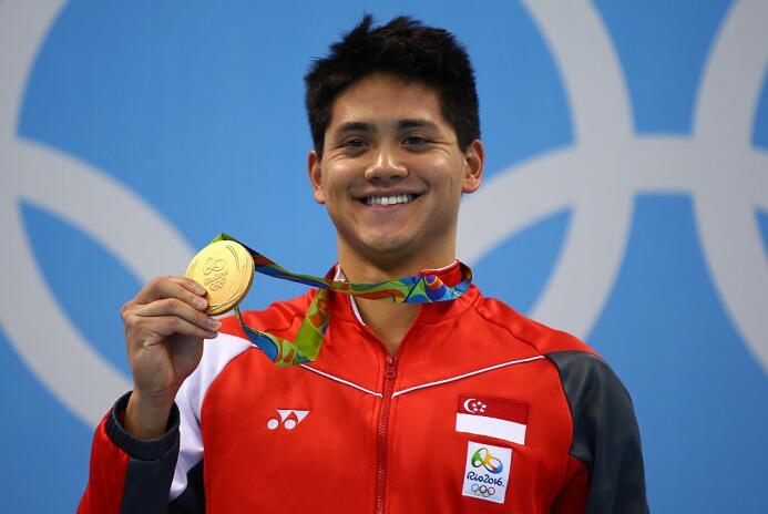 El oro en los 100 mariposa lo consiguió el nadador de Singapur Joseph Sc...