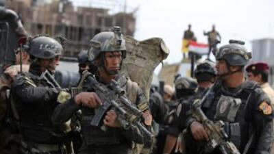 Soldados del ejército iraquí toman el control de la ciudad de Tikrit, qu...