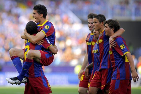 Los 'suplentes' de lujo del equipo 'culé' goleaban y Guardiola disfrutaba.