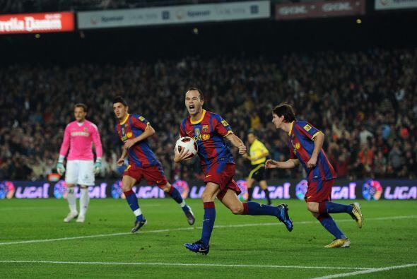 Luego de una excelente jugada, el Barcelona se ponía 1 a 1.
