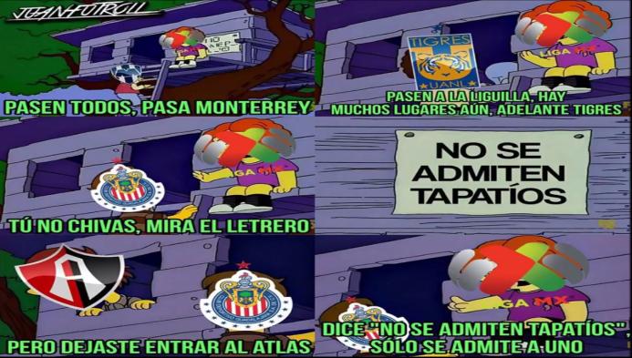 La caída de Chivas con Atlas es centro de burlas en la jornada 16 captur...