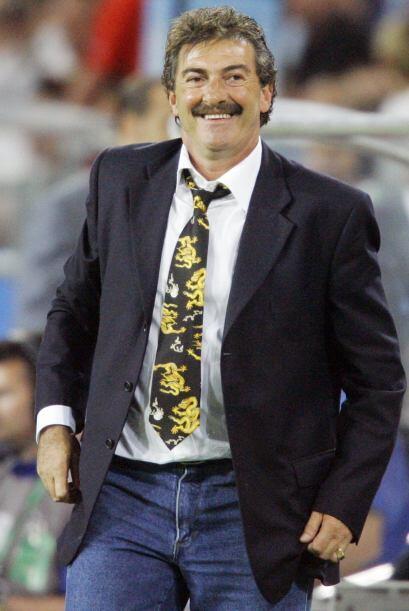 Ricardo La Volpe, arquero de Argentina en 1978 y seleccionador de México...