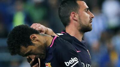 Barcelona perdió contra Málaga y se le escapó la opción de ser líder en España
