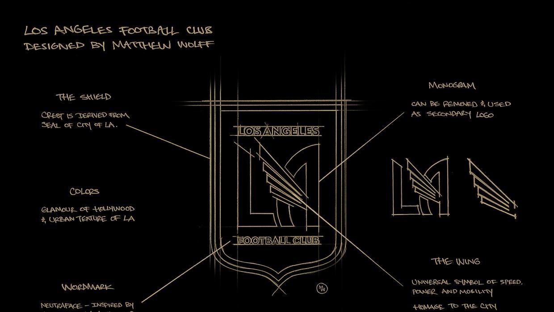 LAFC logo en detalle