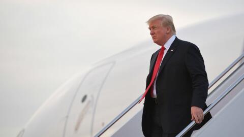 El presidente Donald Trump llega a la base Andrews el pasado 3 de julio.