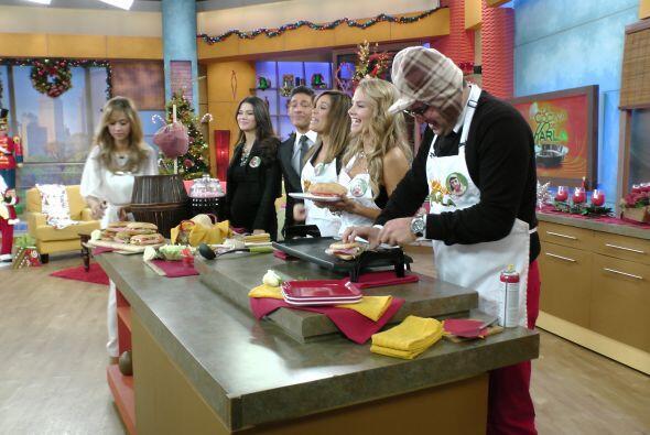 Además, prepararon la famosa torta de jamón que tanto le gustaba al Chavo.