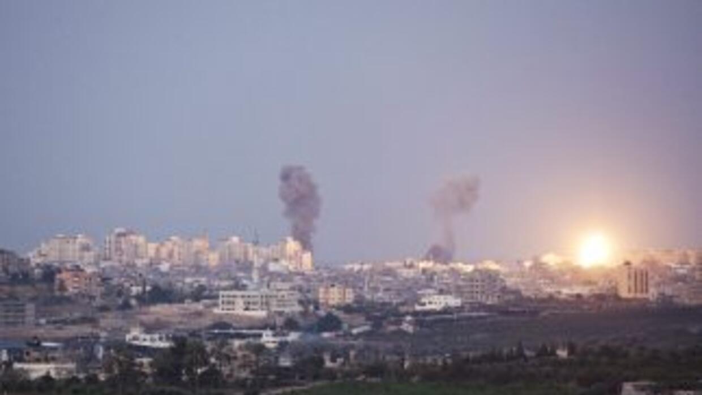 Varias explosiones se registraron en la ciudad de Gaza durante la noche...