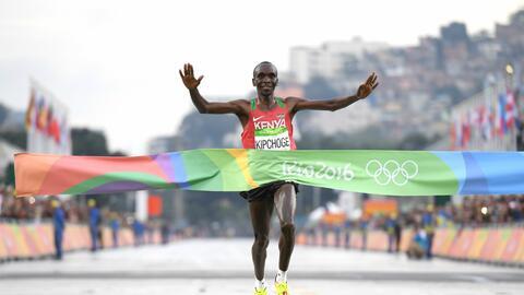 Eliud Kipchoge ganó el maratón de Río 2016.