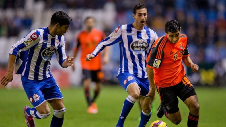 La Real Sociedad de Carlos Vela igualó sin goles con el Depor en Riazor.