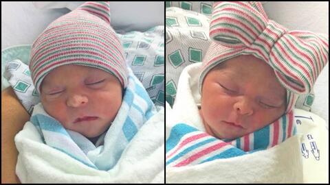 Joaquín Jr. y su hermana gemela Aitana de Jesús, quienes n...