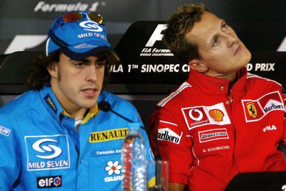 En su tercera temporada en la Fórmula 1, Alonso ya se podía codear con l...