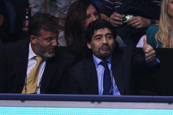 Maradona necesitó de un intérprete para poder comunicarse...