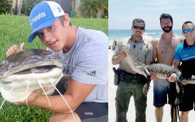 A la derecha, la imagen publicada por la policía de Miami Beach d...