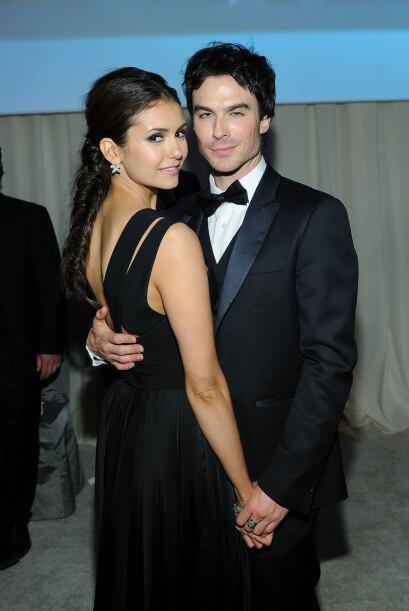 """La estrella de """"Vampire Diaries"""" Nina Dobrev y su guapo Ian Somerhalder..."""