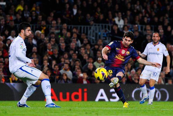 En esta jornada con el Barcelona, 'La Pulga' hizo dos anotaciones en el...