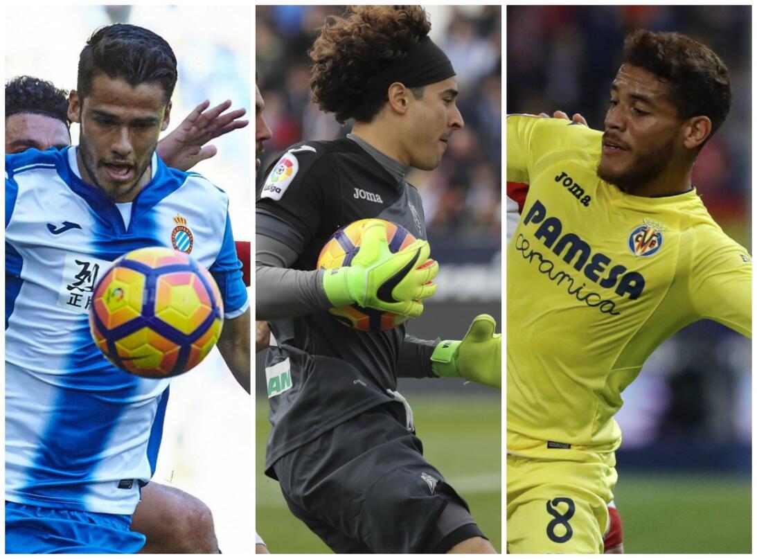 Tanto Reyes, como Ochoa y Dos Santos fueron titulares en esta jornada 34...