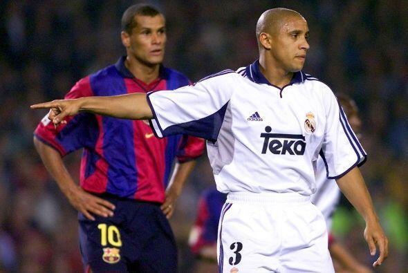 Rivaldo y Roberto Carlos, ambos campeones del mundo con la 'Canarinha'.