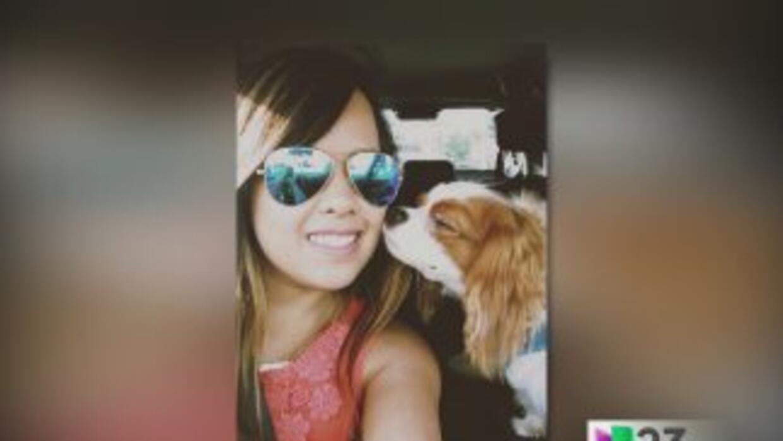 Nina Pham y su mascota 'Bentley'
