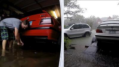 En video: el héroe que salvó sus BMW M3 del huracán Harvey