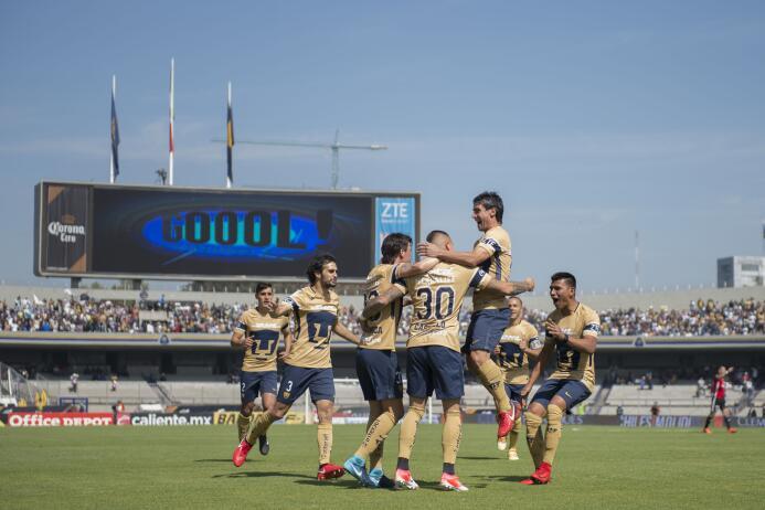 En fotos: Pumas es primero del Clausura 2018 tras vencer 3-1 al Atlas 20...