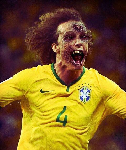 David Luiz, seleccionado de Brasil y defensa del París Saint-Germain.