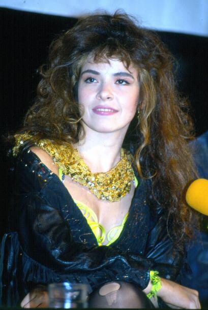 """Gloria Trevi durante la presentación de su disco """"Tu Angel de la Guarda""""..."""