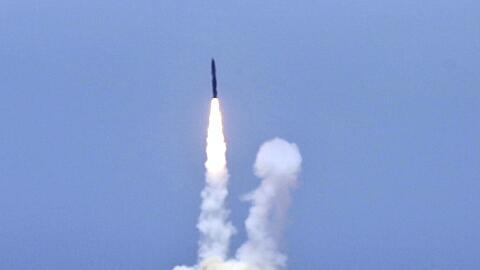 El interceptor fue lanzado desde una base en California.