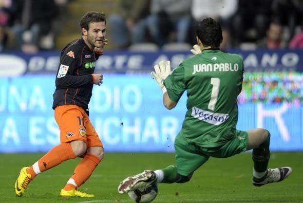El Valencia tuvo varias oportunidades pero no estuvo acertado ante la pu...