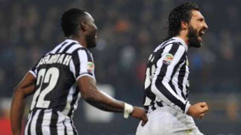 Pirlo, con el sello de la casa, hizo el único gol de la 'Vecchia Signora...