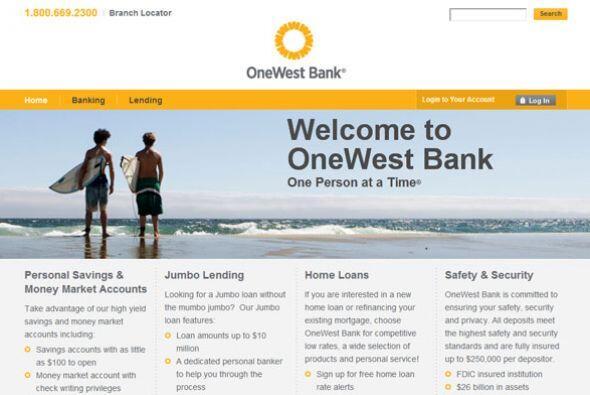 3. ONEWEST BANK  Sector de la industria: Finanzas.  Ejemplos de puestos:...